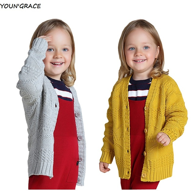 2016 New Design Baby Girls Knitted Sweater Brand Girls Spring Autumn Long Sleeve Cardigan Sweater Baby Girls Cotton Coat ,YC204