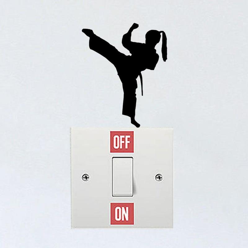 Karate Lady Wall Sticker