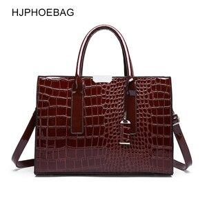 Image 1 - Fjphoebag جديد التمساح نمط المرأة حقيبة يد المرأة حقيبة ساع حقائب كتف Crossbody المرأة حقيبة يد جلدية YC196