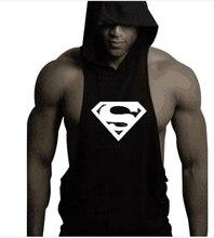 2018 New Brand Skull sleeveless Shirt Casual Fashion Hooded Gyms Tank Top Men bodybuilding Fitness Brand