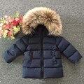 2016 de la moda de invierno bebé ropa de marca niños del bebé chaqueta gruesa ropa de abrigo cálido traje de marca niña abajo de la capa