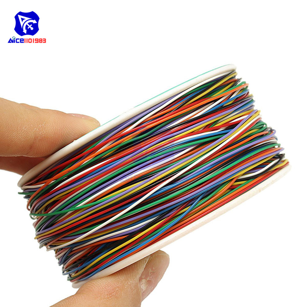 B-30-1000 250M 30 AWG 8-Wire Colored Insulation Test Wrapping