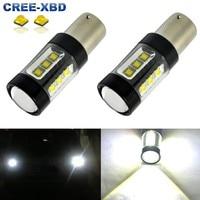 Gratis Verzending 2 Stks 1156 BA15S 80 W CREE Chips Led High Power Kampeerauto Trailer Wit LED Licht 1141 12 V