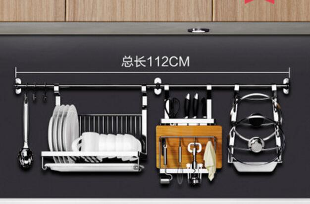 Stainless steel kitchen places content to wear wall hang type suspension receive hardware on the