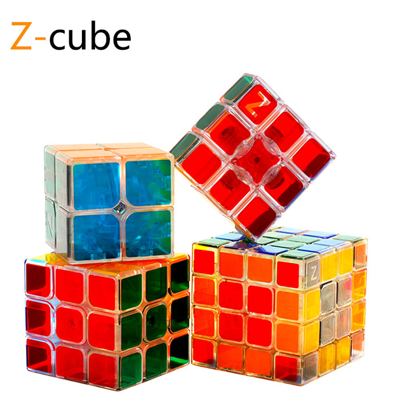 Professional Transparent Magic Speed Cube Puzzle Cube Brain Learning Educational Children Toys 2x2x2 3x3x3 4x4x4