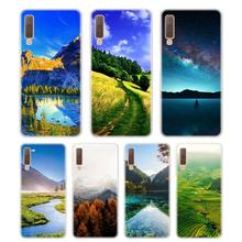 Silicone Phone Case Travel to mountain Printing for Samsung Galaxy A8S A9 A8 Star A7 A6 A5 A3 Plus 2018 2017 2016 Cover