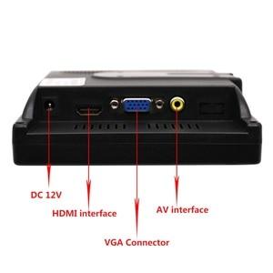 "Image 5 - 7 ""LCD מגע צג עבור פטל Pi HDMI + VGA + AV ממשק תצוגת מגע קיבולי מסך מודול רכב גיבוי הפוך"