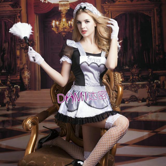 Women Sexy Late Nite French Maid Costume Servant