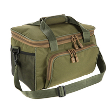 Fishing Bag Canvas Multifunctional Waist Shoulder Bag Outdoor Fishing Reel Lure Storage Bags Tackle Pesca Climbing Accessories