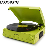 LoopTone 33 45 78 RPM Vinyl LP Record Player Turntable Players Built In Speaker Headphone Jack