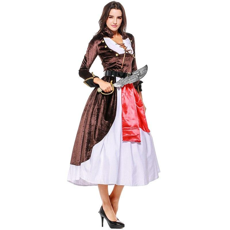Caribbean Pirate Costume Woman Girl  Halloween Cosplay