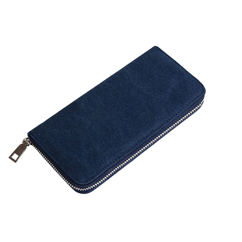 Fashion Solid Men's Wallet Long Clutch Card Holder Bifold Canvas Zipper Phone Purse Male Large Money Bag Carteira Masculina fashion solid men s wallet long clutch card holder bifold canvas zipper phone purse male large money bag carteira masculina