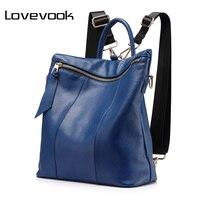 LOVEVOOK Brand Women Backpack Large Travel Backpack Multifunctional School Backpack For Girls Split Leather Shoulder Bag