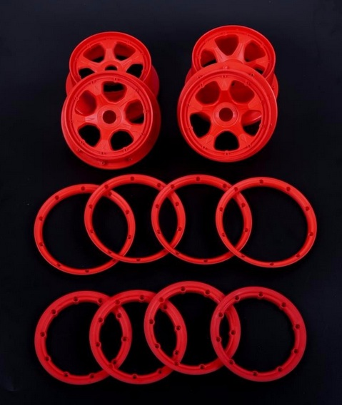 high strength nylon wheel hub And rim kit for 1/5 hpi baja 5b rc car parts high strength nylon front crash bumper kit fit 1 5 hpi baja 5t rc car parts
