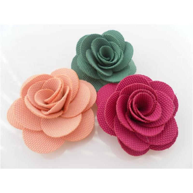20PCS 5CM camellia flower DIY handmade For Key Chain Handbag Clothes Wedding dresses Decoration Hair accessories Fabric Flowers