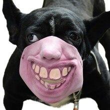 Хэллоуин собака смешная маска для рта Юмористические маски для животных развлечения бульдог маска для рта анти-укус анти-выбор анти-называемые зоотовары