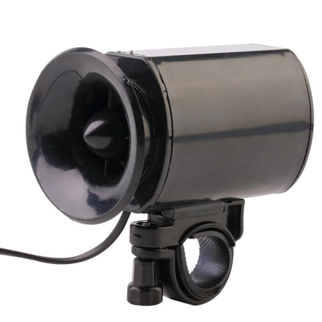 6 Sounds Bicycle Electronic Horn Bell Bike Alarm Siren Loud Speaker Black USA