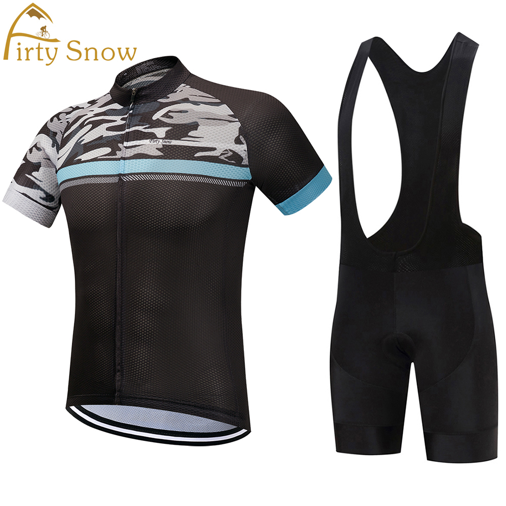 Firty Snow Cycling Jerseys Sets 2018 Quick Dry Mesh Cycling Clothing Mtb/Road Bike Outdoor Sportswear roupas de ciclismo ckahsbi winter long sleeve men uv protect cycling jerseys suit mountain bike quick dry breathable riding pants new clothing sets