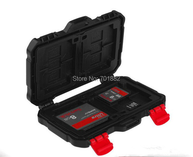 Photo Studio Accessories Waterproof Super Tough SD Card Holder Storage Card Box for keeping 24pcs Cards Sale Memory Card Case
