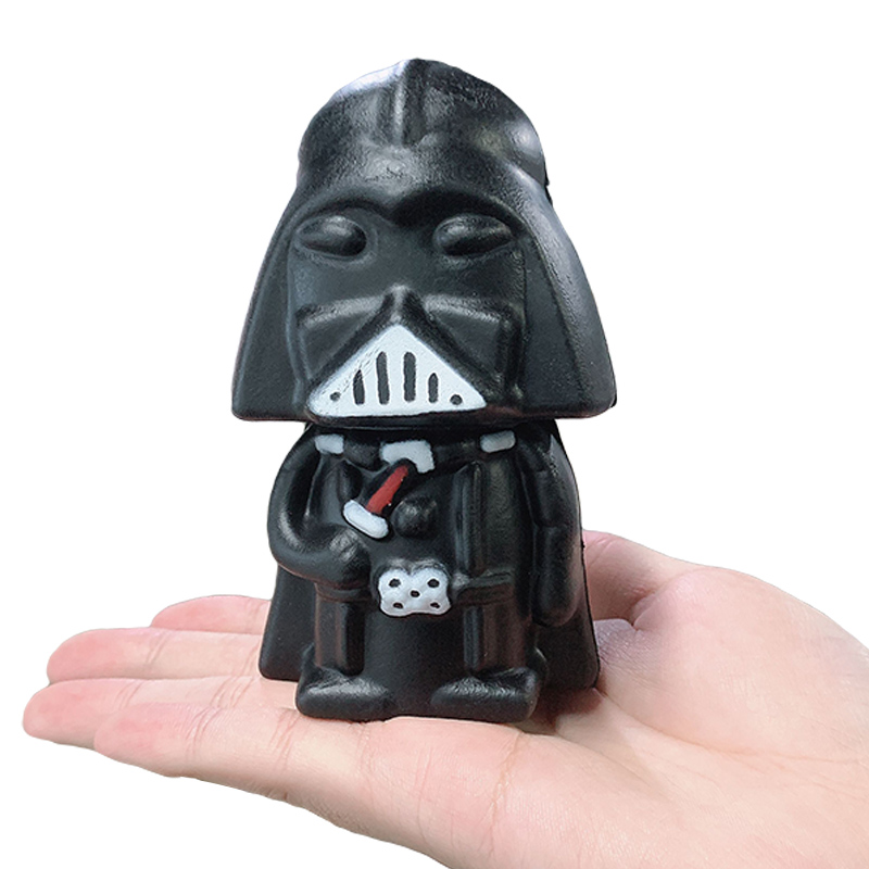 Jumbo Cute Darth Vader Squishy Slow Rising Cartoon Doll Scented Simulation Soft Squeeze Toys Stress Relief Kid Baby Fun Gift Toy