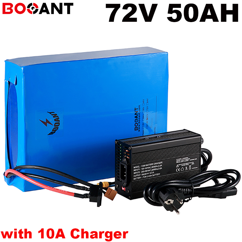 +10A Charger 72V 50AH 5000W electric bike battery for Samsung 35E Sanyo GA 3500 18650 Cell 20S 72V 3000w E-bike lithium battery