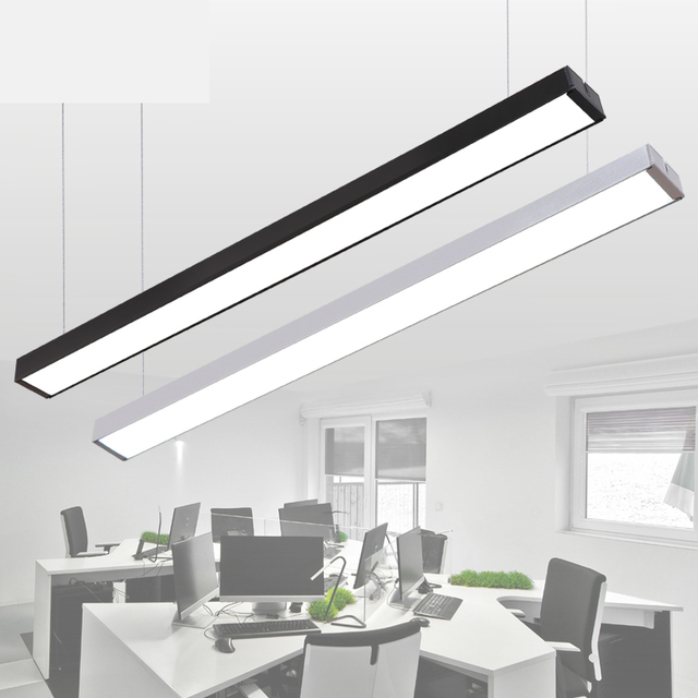 Commercial Led Office Lighting: LED Strip Light Creative Stitching Aluminum Crane Light