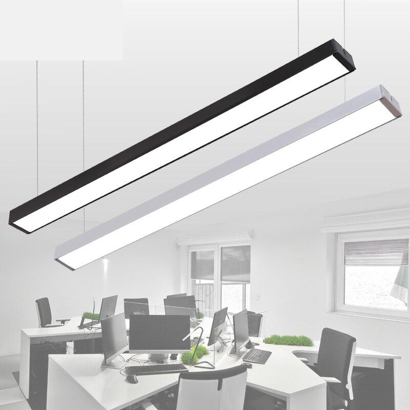 LED Strip Light Creative Stitching Aluminum Crane Light Studios Office Strip Light Fixtures Office Chandeliers Lighting
