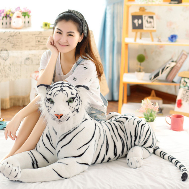 0e9348f55f8 Cute Plush White Tigers Stuffed Animals Plush Doll Beanie Boo Ty Vivid Tiger  Model Baby Kids Birthday Gifts Drop Shipping MR19