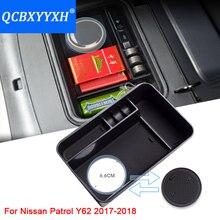 QCBXYYXH Автомобиль Центральной Консоли Подлокотник Коробка для хранения Чехлы для Nissan Patrol Y62 2017 2018 автомобилей Стайлинг украшения авто аксессуары