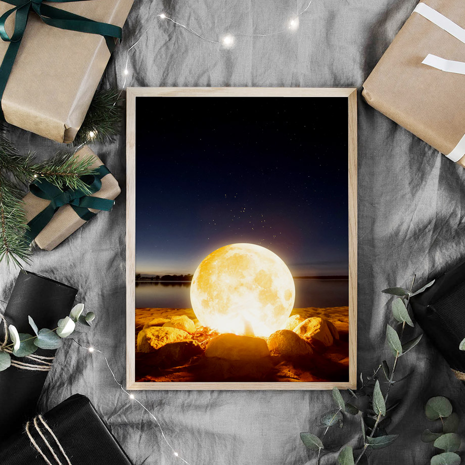 Surrealism Wall Art Canvas Painting Earth Moon Saturn Planet Star Nordic Posters And Prints Wall Pictures For Living Room Decor in Painting Calligraphy from Home Garden