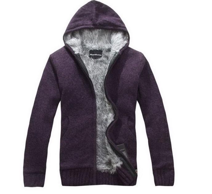 In Stock ! Pop New Men Hooded Sweater Men Cotton Padded Jacket Men Designer Fur Lined Hooded Jackets Sweaters