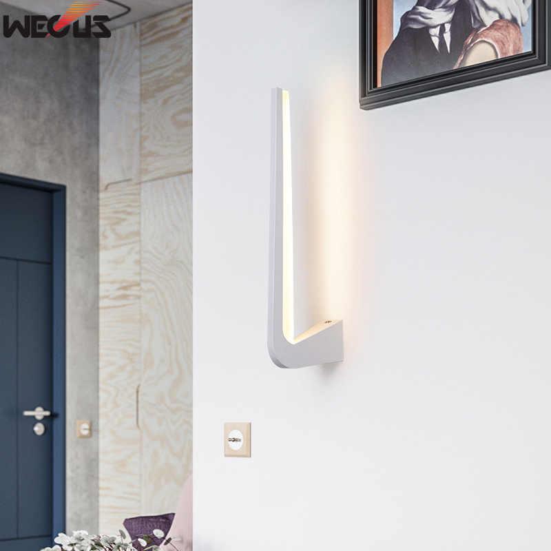 (WECUS) Скандинавская креативная спальня Современная Гостиная прохода фонарь настенный с задним освещением, модная светодиодная прикроватная лампа, светодиодная настенная лампа