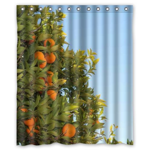 sun orange tree custom Shower <font><b>Curtain</b></font> Bathroom decor fashion design various sizes Free Shipping