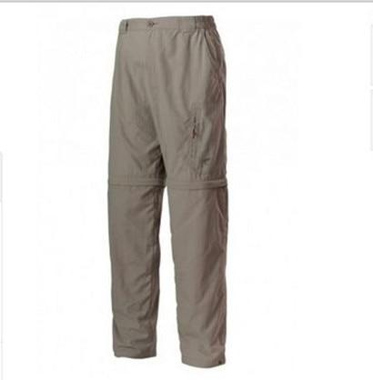 ФОТО New 2016 Brand Men Pants Fishing Trousers Men Quick-dry UPF30 Sun Protection Trousers Size XXL Big Promotion Brown Ykk zipper