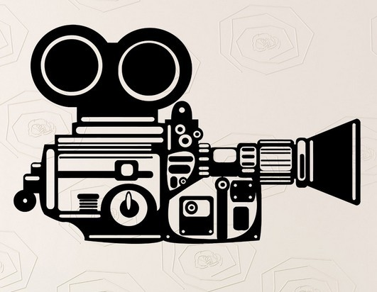 New Studio Vinyl Wall Decal Camera Operator Film Movie Cinema Art Wall Sticker Studio Advertising photography Company Decoration-in Wall Stickers from Home ... & New Studio Vinyl Wall Decal Camera Operator Film Movie Cinema Art ...