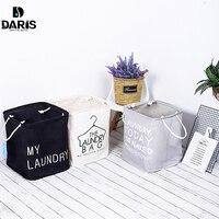 SDARISB  cesta de lavandería de diseño familiar  plegable de algodón  grande  tela Oxford  cesta de lavandería de juguete gris