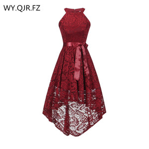 Image 1 - OML 526J#Front short long back wine red halter Bow Bridesmaid Dresses wedding party dress prom gown wholesale fashion clothing