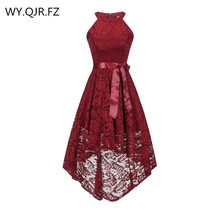 OML 526J # Vordere kurze lange zurück weinrot halfter Bogen Brautjungfer Kleider hochzeit party kleid abendkleid großhandel mode kleidung
