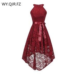 Image 1 - OML 526J # フロントショートロングバックワインレッドホルターボウウエディングドレス結婚式パーティードレスウエディングドレス卸売ファッション服