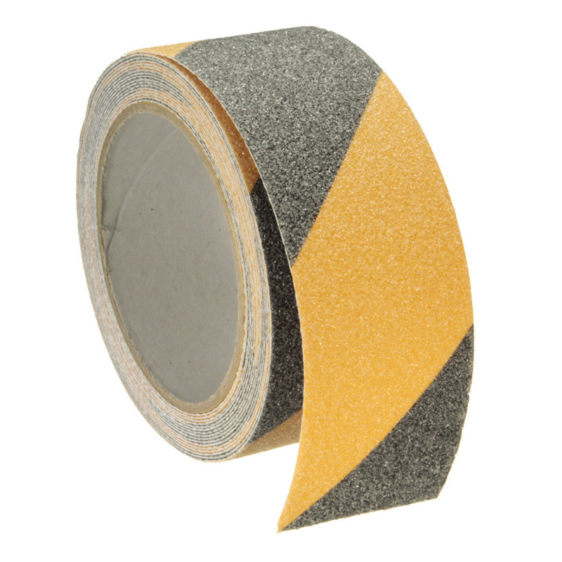 NEW Safurance Yellow + Black 5m x 5cm Floor Safety Non Skid Tape Anti-slip Safe Self Adhesive Sticker High Grip 5cm 5m frosted surface anti slip tape abrasive for stairs tread step safety tape non skid safety tapes