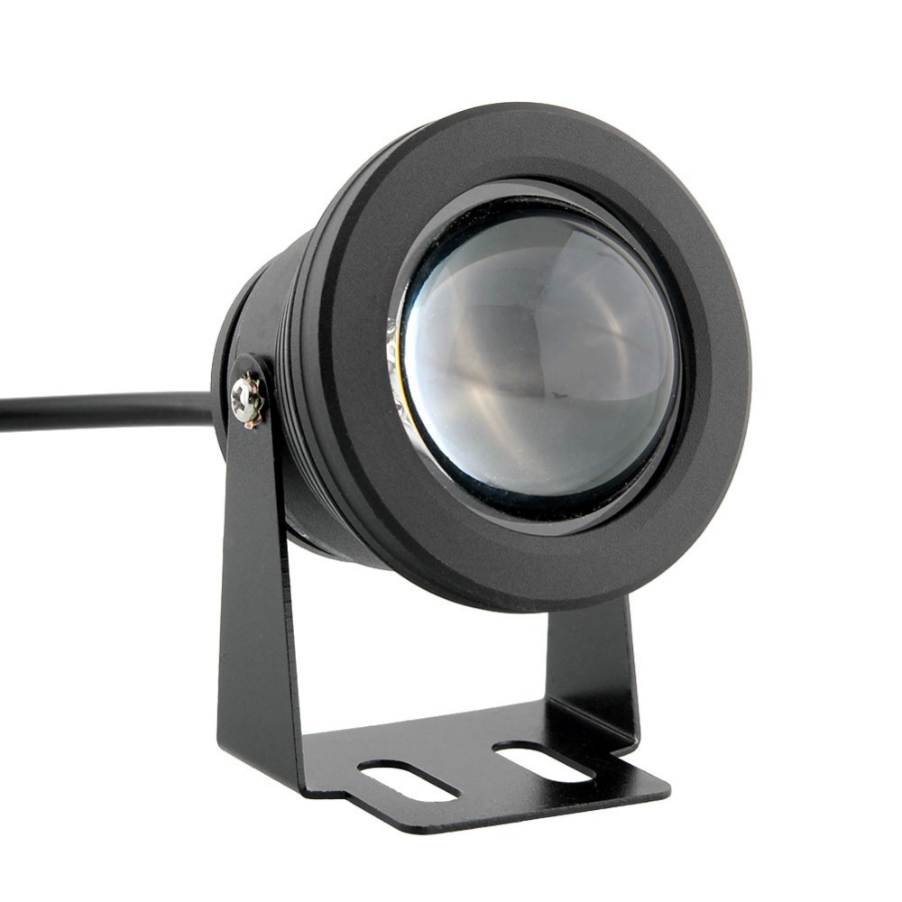 Işıklar ve Aydınlatma'ten LED Sualtı Lambaları'de 10 adet 10 W Siyah gümüş Parlak Bahçe Sualtı led Gölet Işık Havuzu Göl Spotlight Peyzaj lamba Sıcak Beyaz/ beyaz RGB DC12V title=