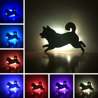 Amroe Shadow Projection Running Dog Doggy Remote Control 7 Color Change Wall Creative Corridor Aisle LED