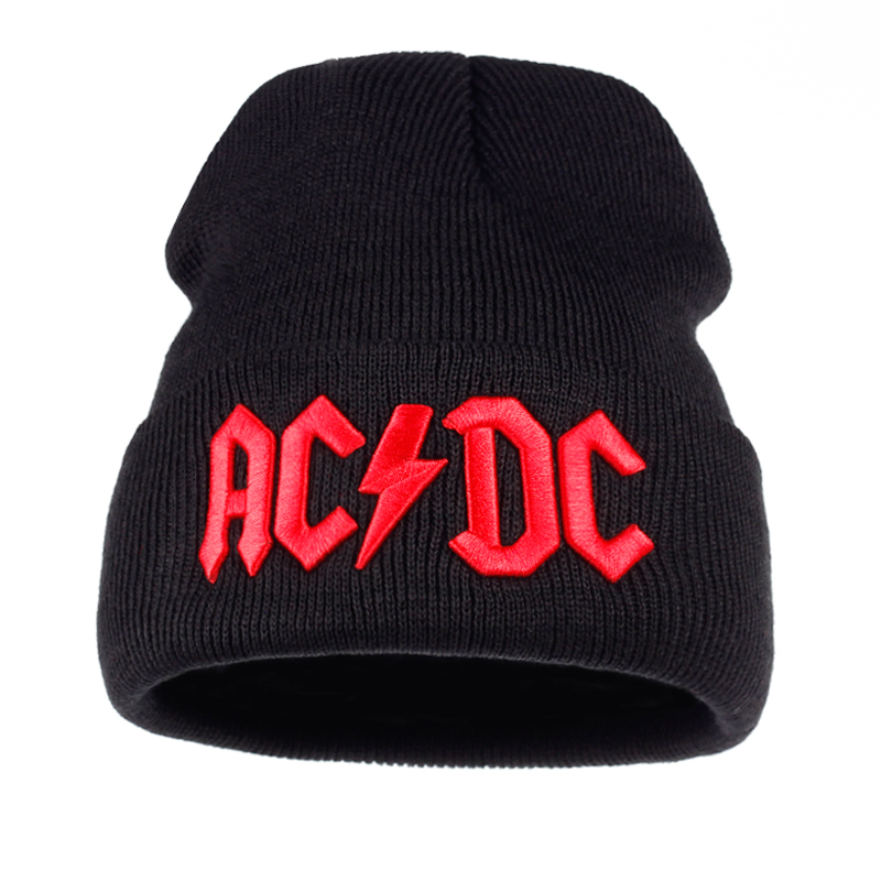 2018 new Men Women Winter Warm Beanie Hat Rock ACDC AC DC Rock Band Warm  Winter Soft Knitted Beanies Hat Cap For Adult Men Women 08ae8f03a70