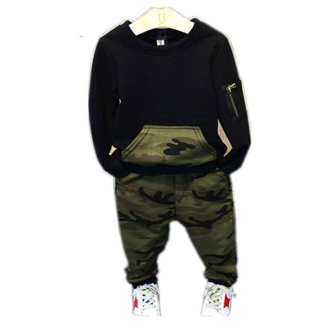 f853e212a US $12.57 40% OFF|Aliexpress.com : Buy Boys Clothes 2019 Spring Autumn Kids  Clothing Camouflage Long Sleeve Pullover+Pants 2Pcs Set Boys Sports Suits  ...