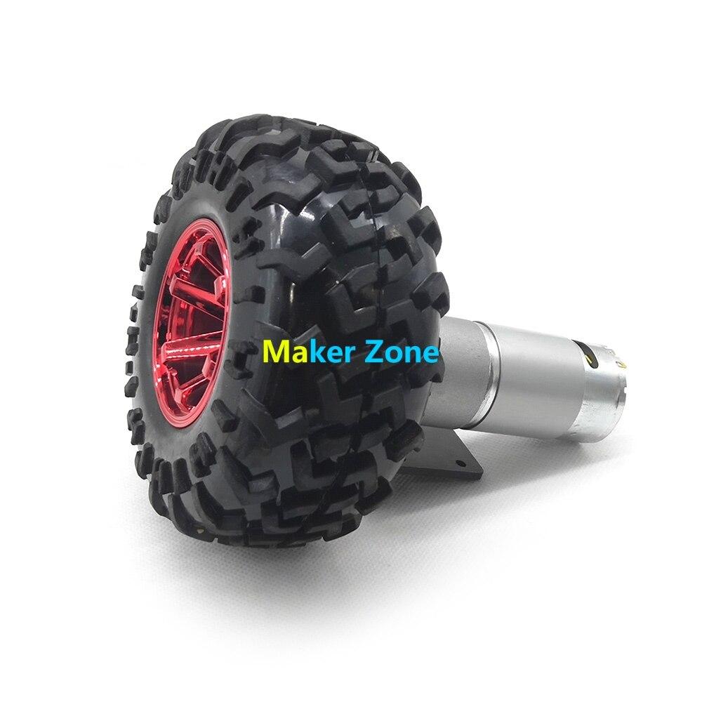 Smart car DIY kits high torque DC motor 130mm Plastic wheel Tyre coupling motor bracket for
