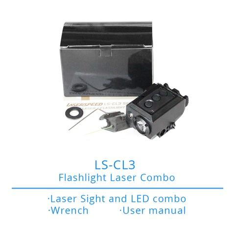 ls cl3 tactical combo gun lanterna verde