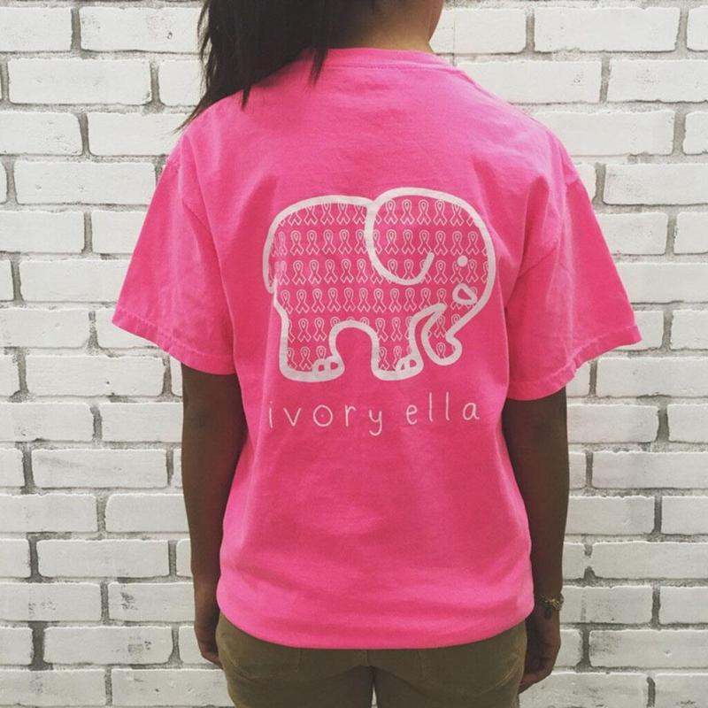 8a236f296ab6a Women Summer Ivory Ella Fashion Animal Elephant Print T Shirt T shirt  Clothing Tee Loose Short Sleeve Harajuku Casual Tops-in T-Shirts from  Women s Clothing ...