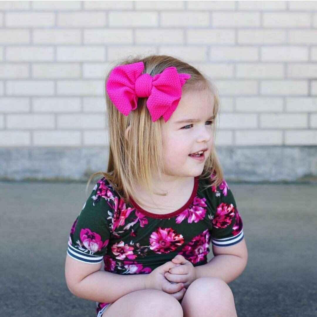 תינוק בנות פעוטות ילדים גדול קשת מבהיקי סרט תנין סיכת שיער קליפ חדש