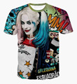Película caliente camisetas para Mujeres Hombres Comando Suicida Harley Quinn Enchantress El Joker Top Tees Verano Carácter Impreso Camiseta