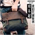 Designer marca casual do homem da lona do Vintage bolsas de couro dos homens Crossbody bolsa de ombro Messenger Bag maleta frete grátis